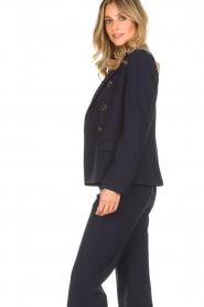 Atos Lombardini | Klassieke blazer Matilda | blauw  | Afbeelding 5