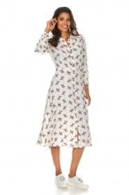 ba&sh |  Midi dress Flore | white  | Picture 3