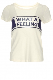 ba&sh | T-shirt What  A Feeling | wit  | Afbeelding 1