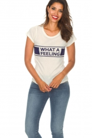 ba&sh | T-shirt What  A Feeling | wit  | Afbeelding 2