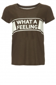 ba&sh | T-shirt What A Feeling | groen  | Afbeelding 1