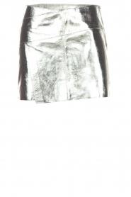 ba&sh | Leren rok Mania | zilver  | Afbeelding 1