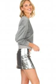 ba&sh | Leren rok Mania | zilver  | Afbeelding 4