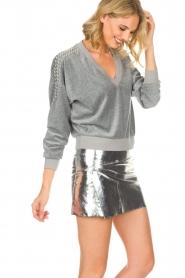 ba&sh | Leren rok Mania | zilver  | Afbeelding 2