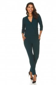 ba&sh |  Jumpsuit met lace-up details Chiara | green  | Picture 3