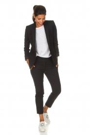 ba&sh | Pantalon met krijtstreep Bango | zwart  | Afbeelding 2