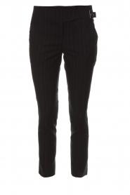 ba&sh | Pantalon met krijtstreep Bango | zwart  | Afbeelding 1