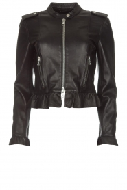 Set |  Leather jacket Swae | black  | Picture 1
