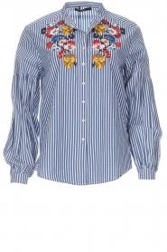 Set |  Striped blouse Evi | blue  | Picture 1