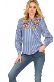Set |  Striped blouse Evi | blue  | Picture 2