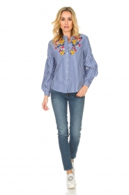 Set |  Striped blouse Evi | blue  | Picture 3