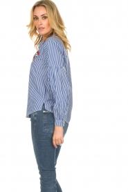 Set |  Striped blouse Evi | blue  | Picture 5