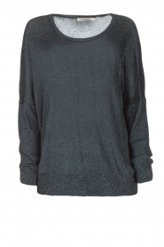 Rabens Saloner |  Glitter sweater Nana | blue  | Picture 1