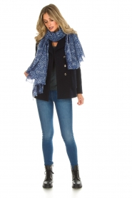 Rabens Saloner |  Glitter sweater Nana | blue  | Picture 3