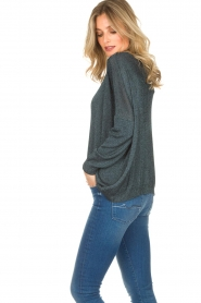 Rabens Saloner |  Glitter sweater Nana | blue  | Picture 5