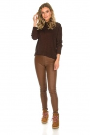 Rabens Saloner |  Glitter sweater Nadia | copper  | Picture 3