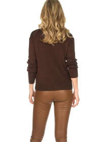 Rabens Saloner |  Glitter sweater Nadia | copper  | Picture 5