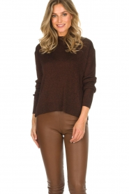 Rabens Saloner |  Glitter sweater Nadia | copper  | Picture 2