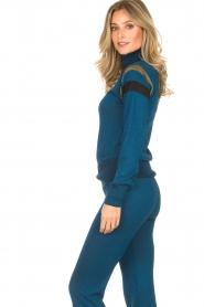 Rabens Saloner | Glitter coltrui Miam | blauw  | Afbeelding 4