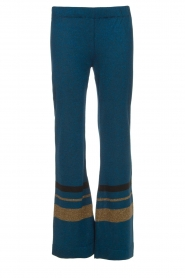 Rabens Saloner |  Glitter pants Mina | blue  | Picture 1