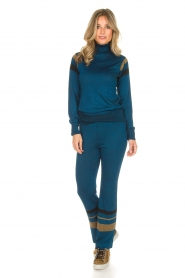 Rabens Saloner |  Glitter pants Mina | blue  | Picture 2