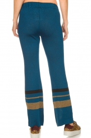 Rabens Saloner |  Glitter pants Mina | blue  | Picture 5
