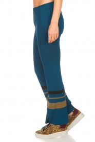 Rabens Saloner |  Glitter pants Mina | blue  | Picture 4