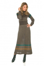 Rabens Saloner |  Glitter maxi dress Mie | gold  | Picture 2