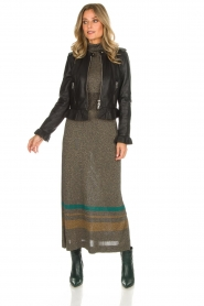 Rabens Saloner |  Glitter maxi dress Mie | gold  | Picture 3