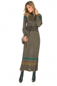 Rabens Saloner |  Glitter maxi dress Mie | gold  | Picture 4