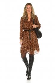 Rabens Saloner |  Printed dress Elze | copper  | Picture 3