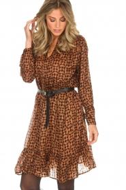 Rabens Saloner |  Printed dress Elze | copper  | Picture 2