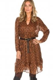Rabens Saloner |  Printed dress Elze | copper  | Picture 4