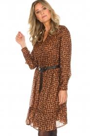 Rabens Saloner |  Printed dress Elze | copper  | Picture 5
