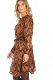 Rabens Saloner |  Printed dress Elze | copper  | Picture 6