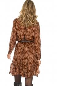 Rabens Saloner |  Printed dress Elze | copper  | Picture 7