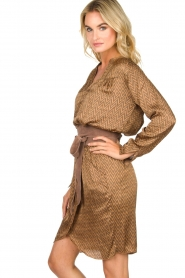 Rabens Saloner |  Dress Lisamay | brown  | Picture 4