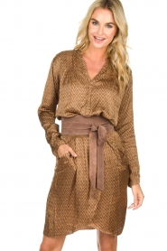 Rabens Saloner |  Dress Lisamay | brown  | Picture 2
