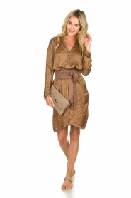 Rabens Saloner |  Dress Lisamay | brown  | Picture 3