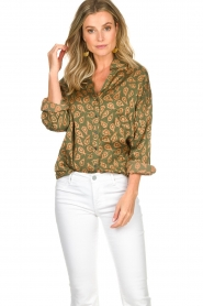 Rabens Saloner |  Blouse Leonora | green  | Picture 2