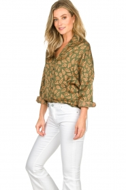 Rabens Saloner |  Blouse Leonora | green  | Picture 5