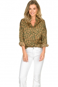 Rabens Saloner |  Blouse Leonora | green  | Picture 4
