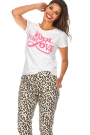 Lolly's Laundry | T-shirt Romee | wit  | Afbeelding 2