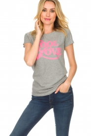 Lolly's Laundry |  T-shirt Romee | grey  | Picture 2