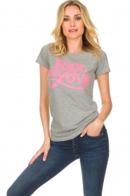 Lolly's Laundry |  T-shirt Romee | grey  | Picture 3