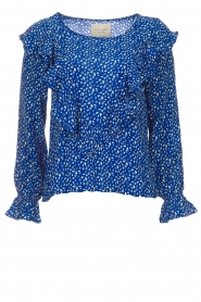Lolly's Laundry |  Blouse with volant Jessy | blue  | Picture 1