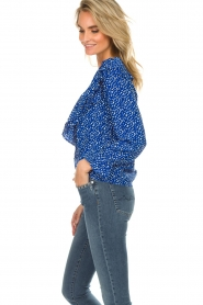 Lolly's Laundry |  Blouse with volant Jessy | blue  | Picture 5