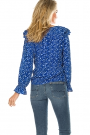 Lolly's Laundry |  Blouse with volant Jessy | blue  | Picture 6
