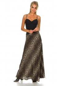 Lolly's Laundry |  Maxi skirt with leopard print Mio | animal print  | Picture 4