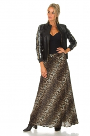Lolly's Laundry |  Maxi skirt with leopard print Mio | animal print  | Picture 8